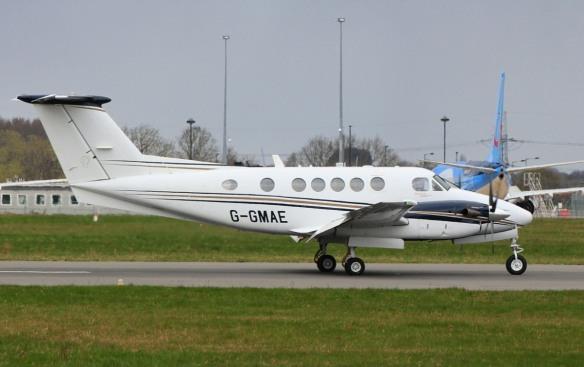 Gama Aviation Beech 200 Super King Air G-GMAE Ambulance flight 10th April 2021 (3)